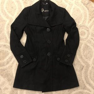 Guess black dress coat